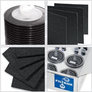 Las placas CARBOFIL™ permiten al usuario manejar el carbón activo de una manera mucho más limpia que con los polvos de carbón sueltos. No es necesario usar polvo de carbón activo o gránulos y no hay torta de filtro.